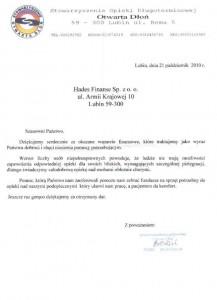 Stowarzyszenie Opieki Długoterminowej Otrata Dłoń w Lubinie
